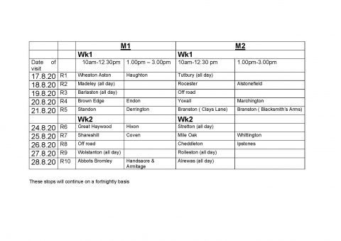 Mobile Library Timetable 8.20 480x339